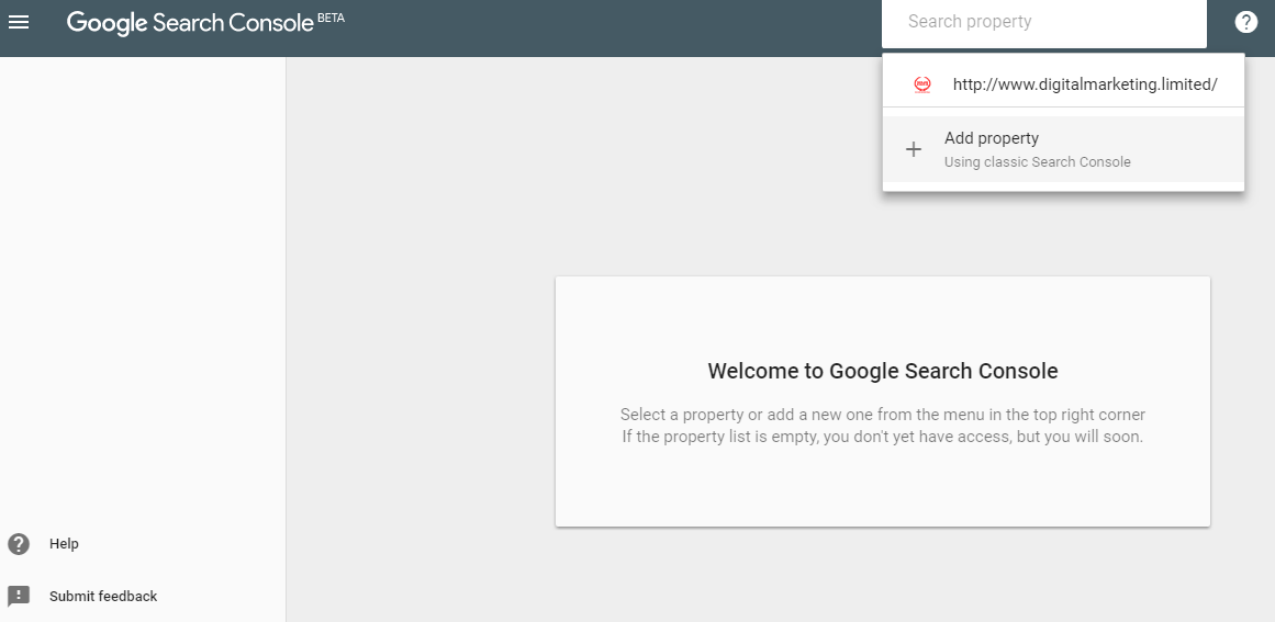Beta Version of Google Search Console