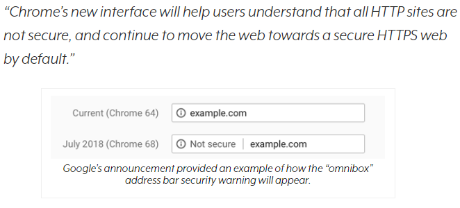 Chrome Display a Warning on Mixed Content Pages