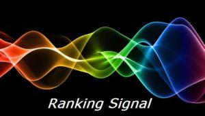 Ranking Signal
