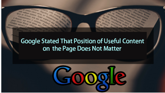 Position of Useful Content on the Page
