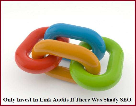 Only Invest In Link Audits If There Was Shady SEO